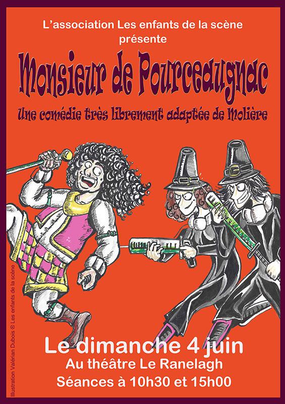 Monsieur de Pourceaugnac, par l'atelier de théâtre Les Enfants de la scène