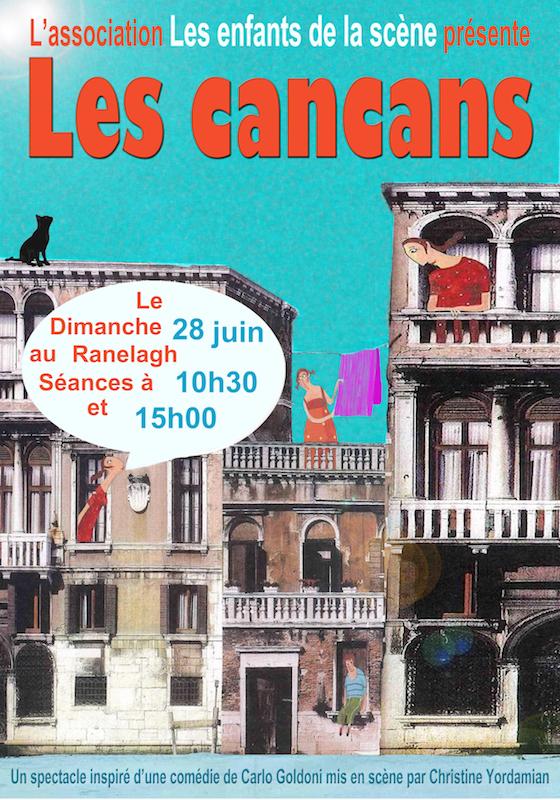 Les Cancans, pièce de théâtre 215 des Enfants de la scène