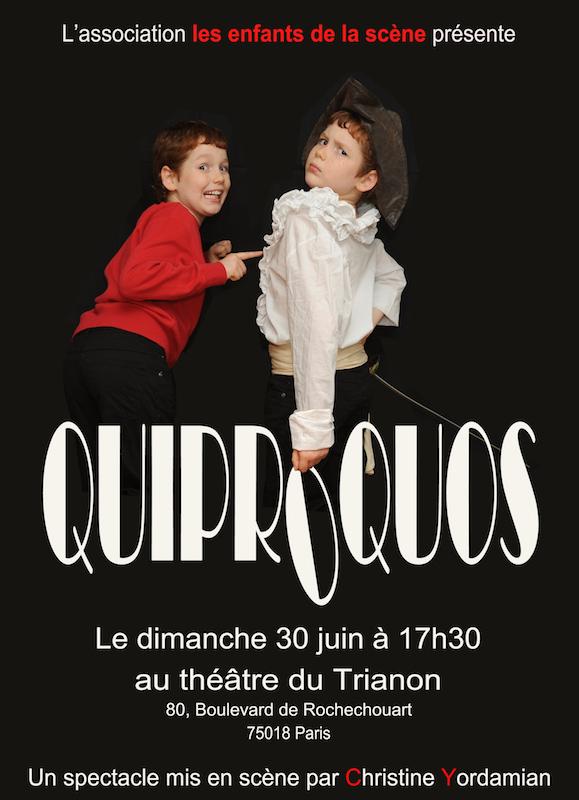 Quiprocos, spectacle de l'aterlier de théâtre pour enfants Les Enfants de la scène