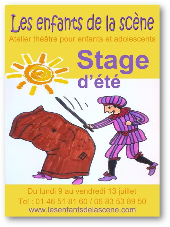 Stage d'été à l'atelier de théâtre pour enfants et adolescents Les enfants de la scène