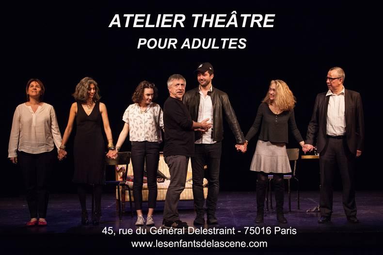 Cours de théâtre pour adultes Paris 16