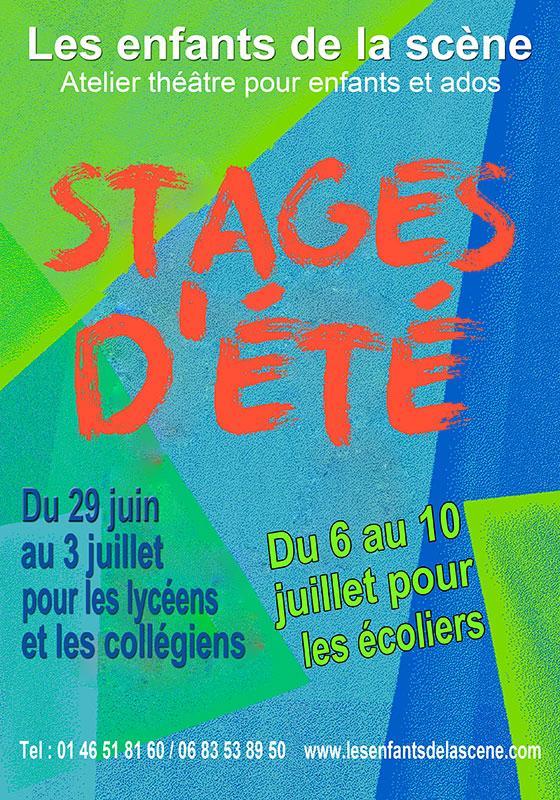 Stages d'été de théâtre - Les enfants de la scène