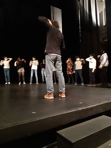 Répétition des Enfants de la scène au Théâtre Ranelagh